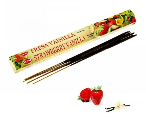 Благовония HEM, шестигранники, Vanilla Strawberry (Ваниль и Клубника)